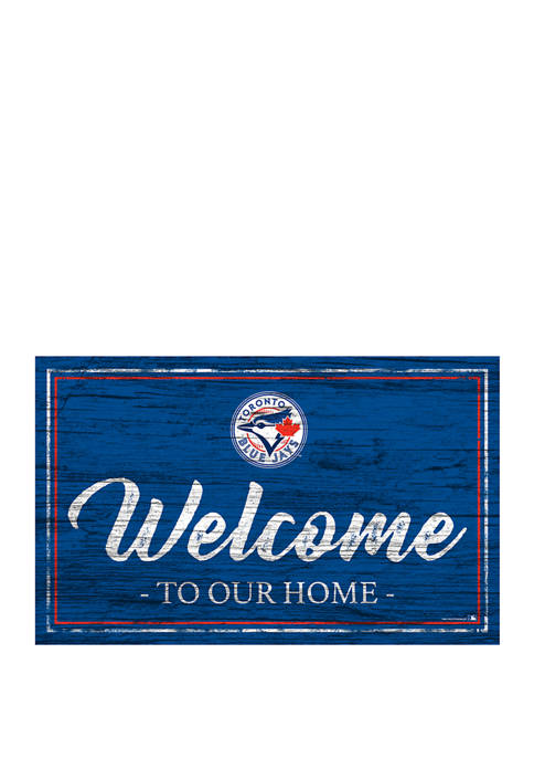 MLB Toronto Blue Jays 11 in x 19 in Team Color Welcome Sign