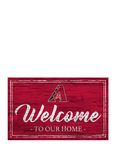 MLB Arizona Diamondbacks 11 in x 19 in Team Color Welcome Sign