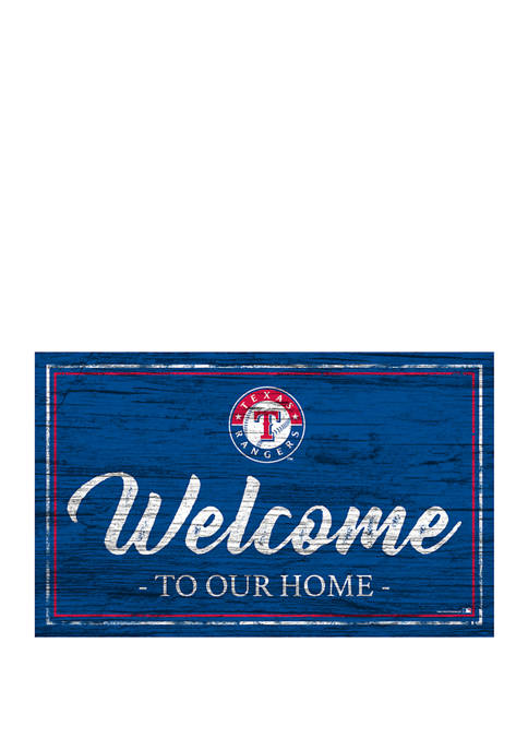 MLB Texas Rangers 11 in x 19 in Team Color Welcome Sign