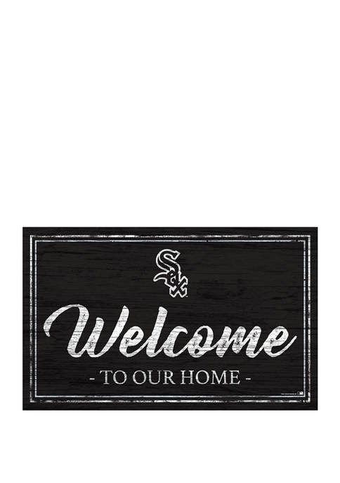 MLB Chicago White Sox 11 in x 19 in Team Color Welcome Sign