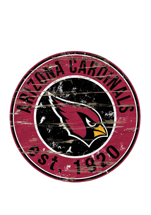 Fan Creations NFL Arizona Cardinals Round Distressed Sign