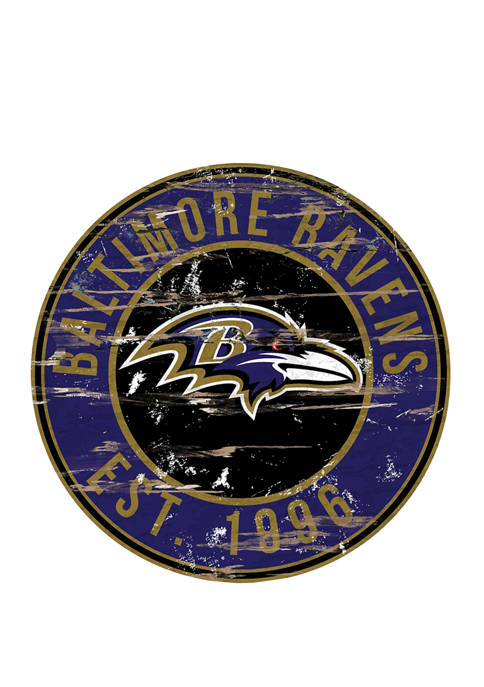 Fan Creations NFL Baltimore Ravens Round Distressed Sign