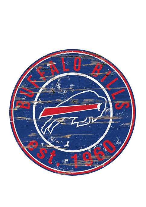 NFL Buffalo Bills Round Distressed Sign