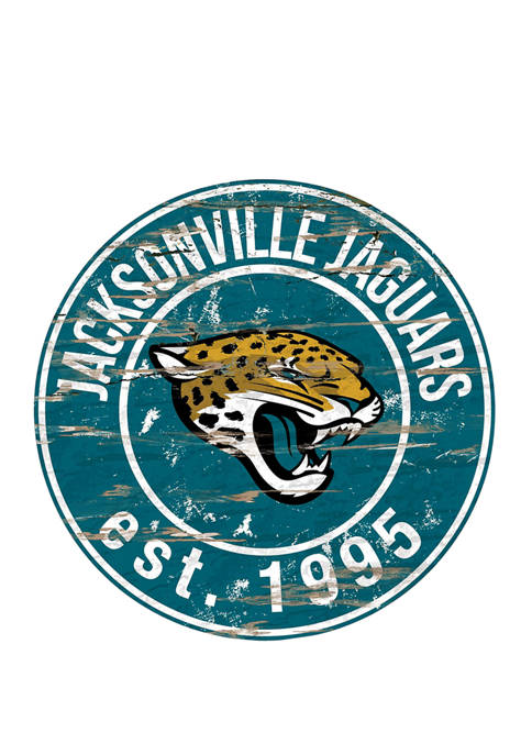 Fan Creations NFL Jacksonville Jaguars Round Distressed Sign