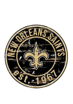 Fan Creations Nfl New Orleans Saints Round Distressed Sign