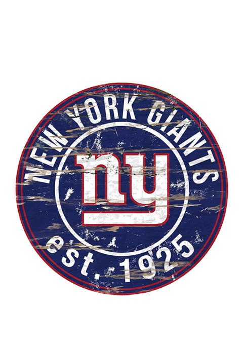 Fan Creations NFL New York Giants Round Distressed