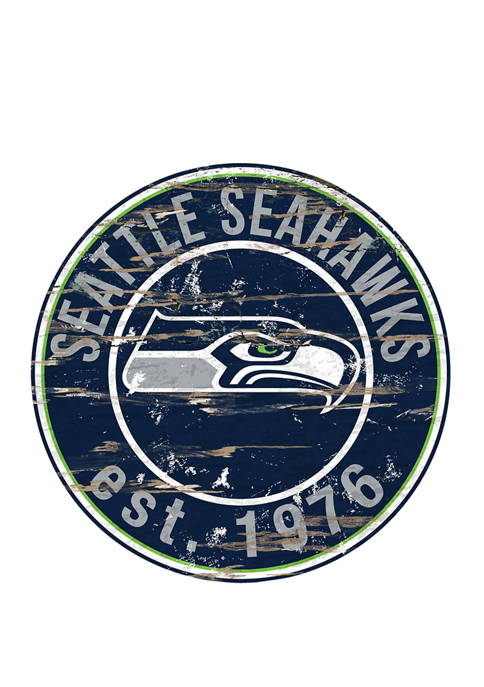 NFL Seattle Seahawks Round Distressed Sign