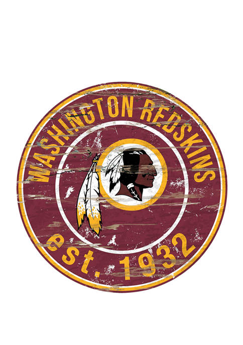 NFL Washington Redskins Round Distressed Sign