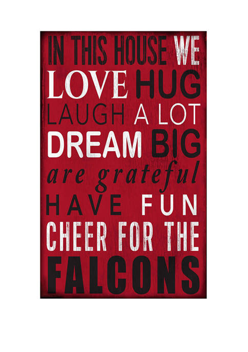 NFL Atlanta Falcons In This House Sign