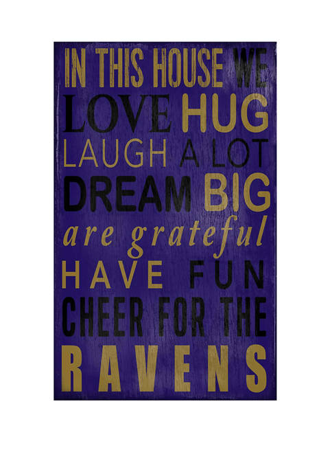 NFL Baltimore Ravens In This House Sign