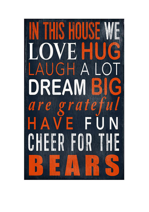 NFL Chicago Bears In This House Sign