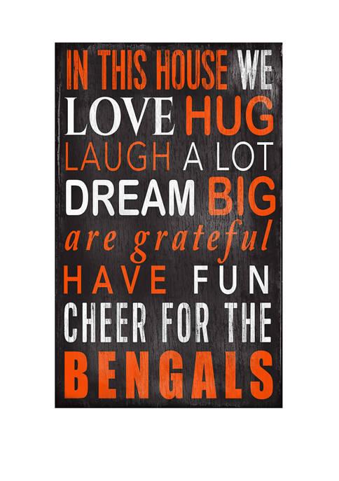 Fan Creations NFL Cincinnati Bengals In This House