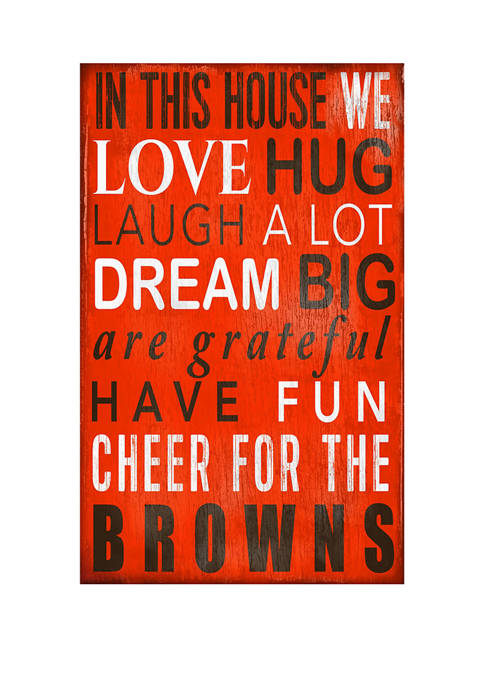 NFL Cleveland Browns In This House Sign