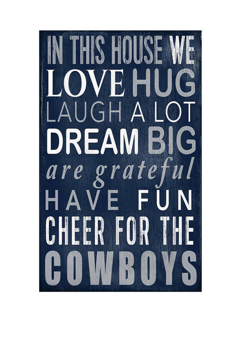 NFL Dallas Cowboys In This House Sign