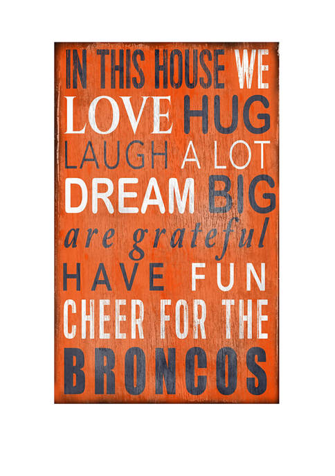 NFL Denver Broncos In This House Sign