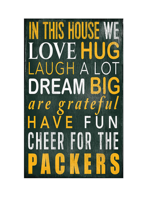 NFL Green Bay Packers 11 in x 19 in In This House Sign