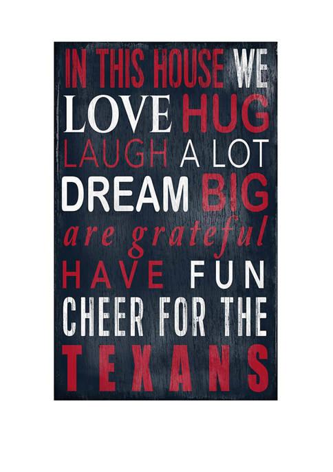 Fan Creations NFL Houston Texans 11 in x