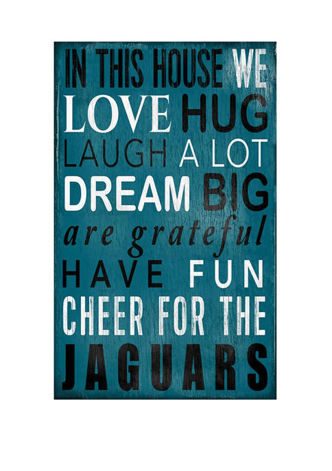 NFL Jacksonville Jaguars In This House Sign