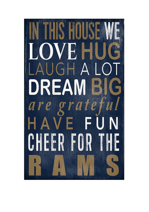 NFL Los Angeles Rams In This House Sign