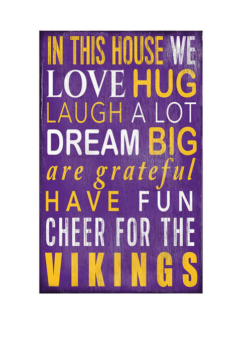 Fan Creations NFL Minnesota Vikings In This House