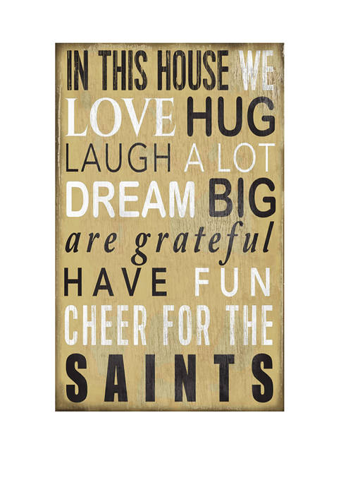 NFL New Orleans Saints In This House Sign