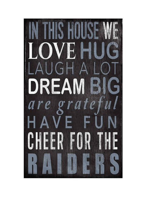 NFL Oakland Raiders In This House Sign