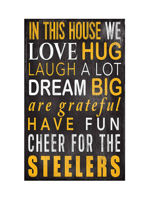 NFL Pittsburgh Steelers In This House Sign