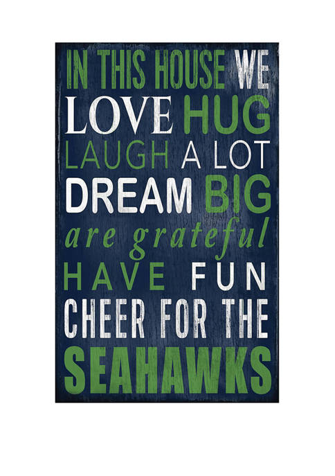 NFL Seattle Seahawks In This House Sign