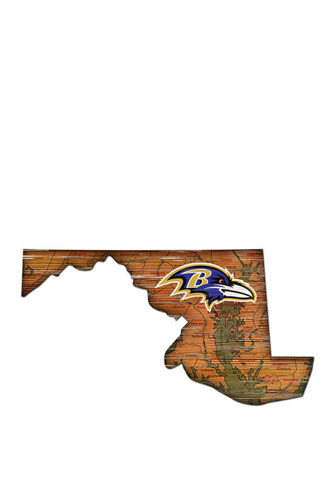 Fan Creations NFL Baltimore Ravens Distressed State Cutout