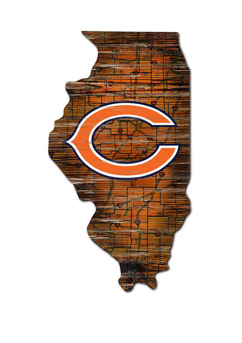 Fan Creations NFL Chicago Bears Distressed State Cutout