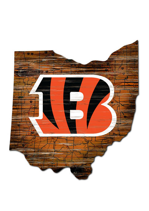Fan Creations NFL Cincinnati Bengals Distressed State Cutout