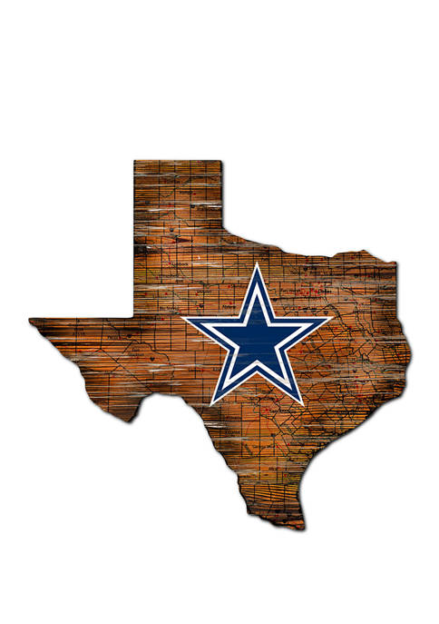 NFL Dallas Cowboys Distressed State Cutout Wall Art