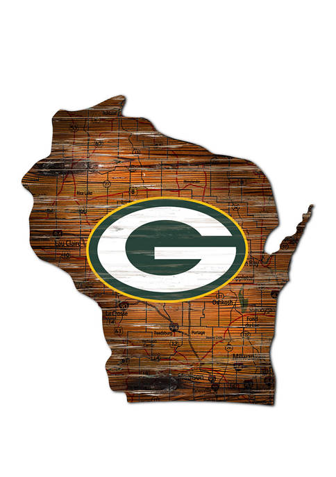 Fan Creations NFL Green Bay Packers Distressed State