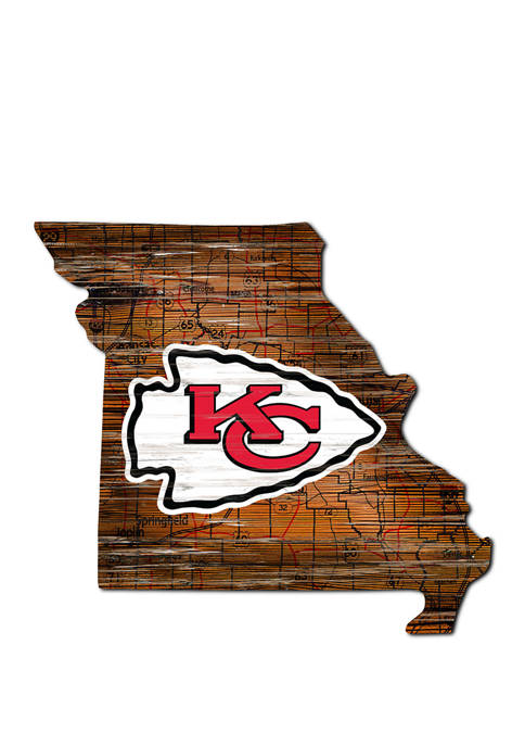 Fan Creations NFL Kansas City Chiefs Distressed State