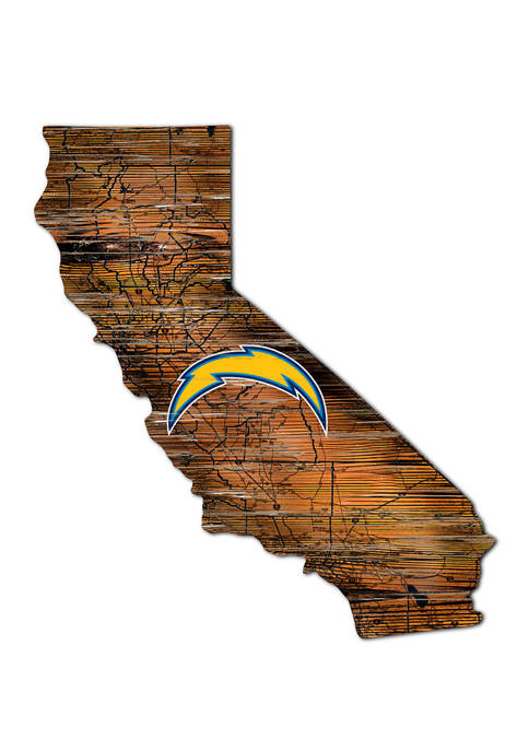 Fan Creations NFL Los Angeles Chargers Distressed State