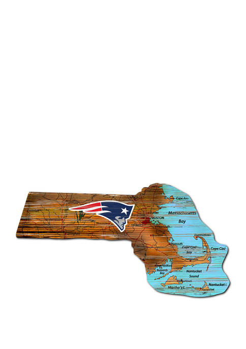 Fan Creations NFL New England Patriots Distressed State