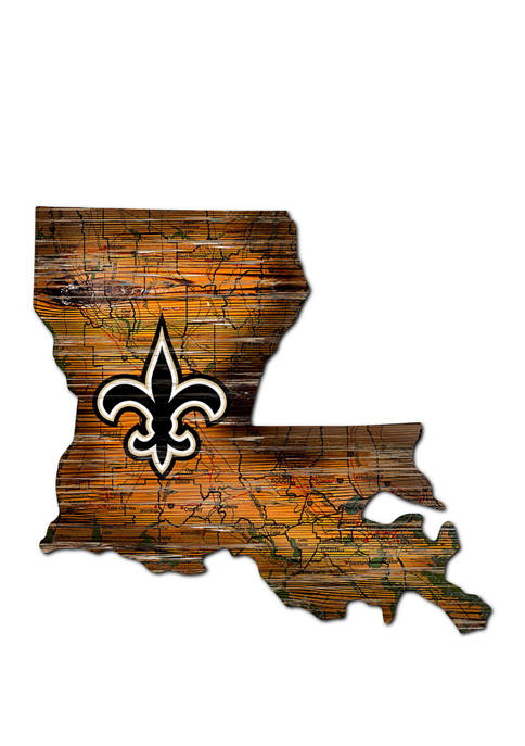 Fan Creations NFL New Orleans Saints Distressed State