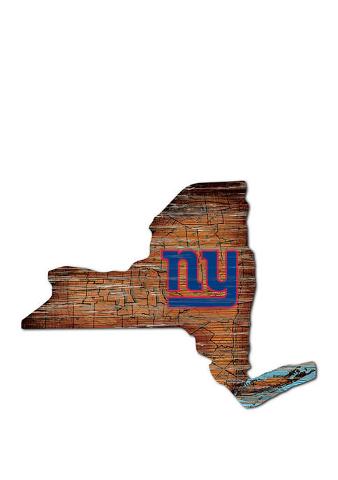 NFL New York Giants Distressed State Cutout Wall Art