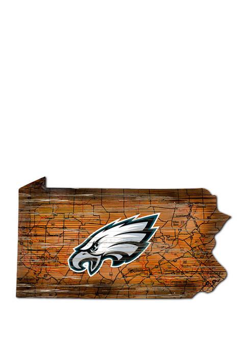 Fan Creations NFL Philadelphia Eagles Distressed State Cutout