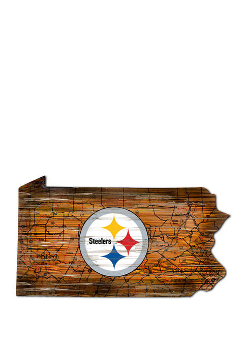 Fan Creations NFL Pittsburgh Steelers Distressed State Cutout