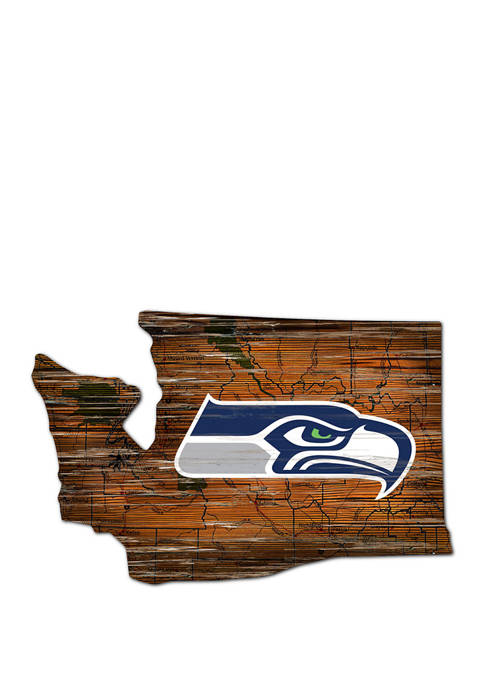 NFL Seattle Seahawks Distressed State Cutout Wall Art