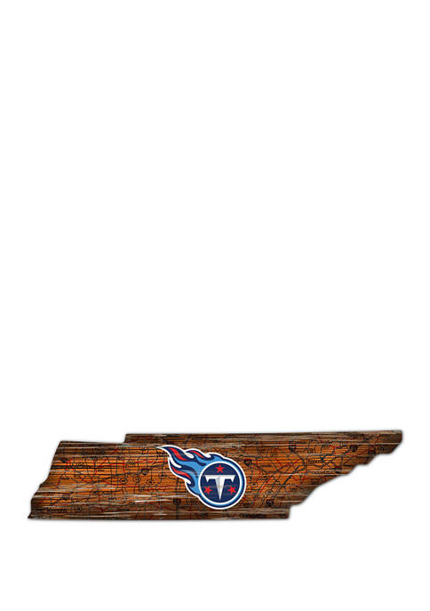 Fan Creations NFL Tennessee Titans Distressed State Cutout