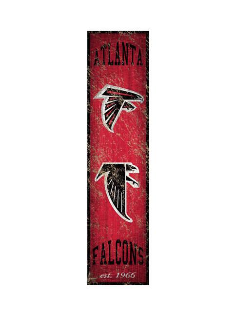 NFL Atlanta Falcons Heritage Banner Vertical 24 in x 6 in Sign