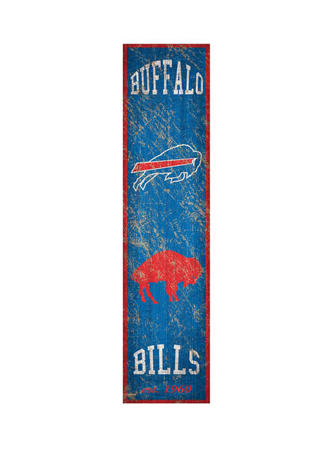 NFL Buffalo Bills 6 in x 24 in Heritage Banner Vertical Sign