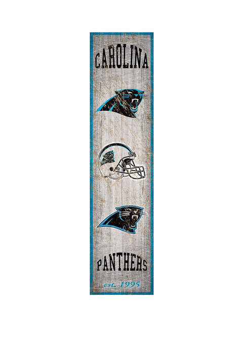 NFL Carolina Panthers 6 in x 24 in Heritage Banner Vertical Sign