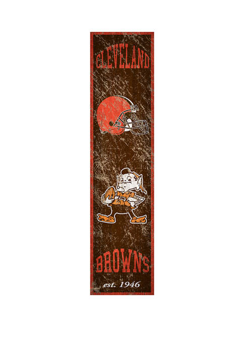 NFL Cleveland Browns Heritage Banner Vertical 24 in L x 6 in W Sign
