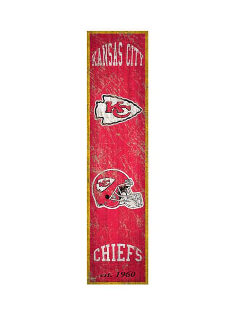 NFL Kansas City Chiefs 6 in x 24 in Vertical Heritage Banner