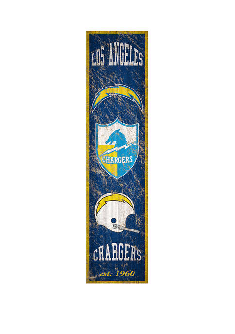 NFL Los Angeles Chargers 6 in x 24 in Vertical Heritage Banner