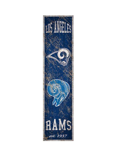 NFL LA Rams 6 in x 24 in Vertical Heritage Banner