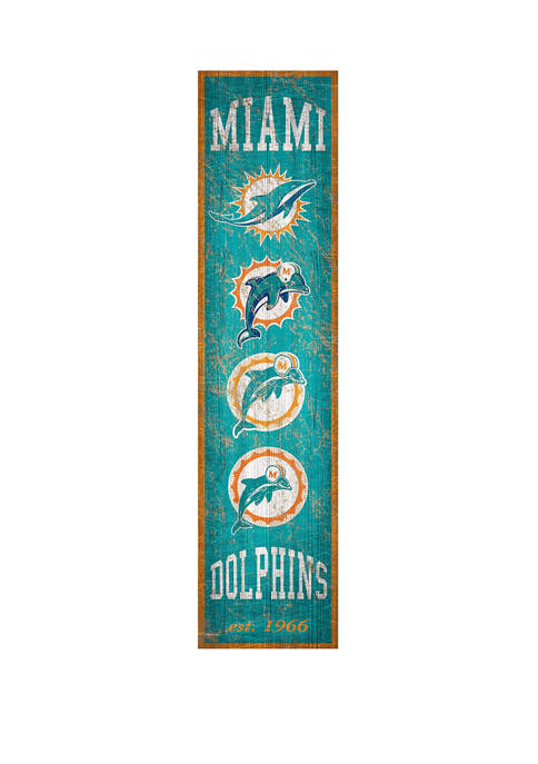 NFL Miami Dolphins 6 in x 24 in Vertical Heritage Banner